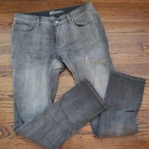 Gray denim skinny jeans. Petite size 8